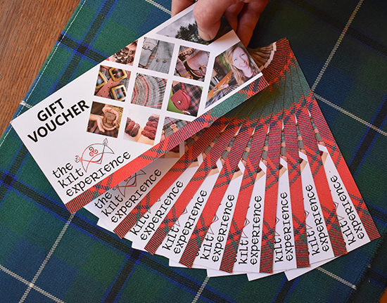 The Kilt Experience Gift Vouchers Handsewn Kilts and handmade Kilt-wear