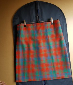 Robertson Red Ancient Tartan Kilt hand-sewn by The Kilt Experience