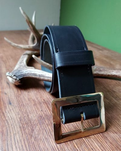 The Kilt Experience Handsewn leather Kilt Belt with solid brass buckle