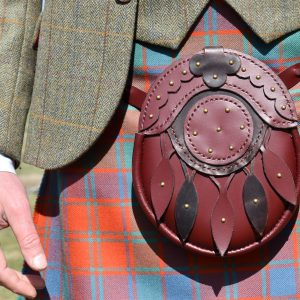 The Kilt Experience Hand-stitched Hunting Sporran and Kilt Outfit
