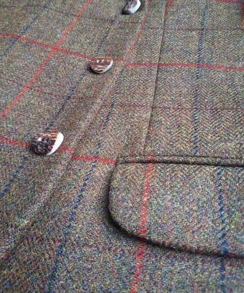 The Kilt Experience Lovat Tweed Kilt Jacket, Handmade Scottish Antler Buttons