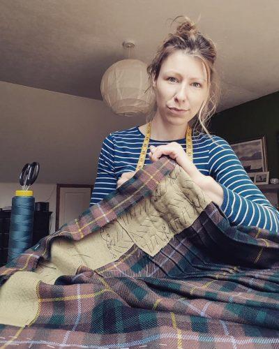 The Kilt Experience Traditional Kiltmaker, Handsewn made-to-measure Kilt, Buchanan Tartan